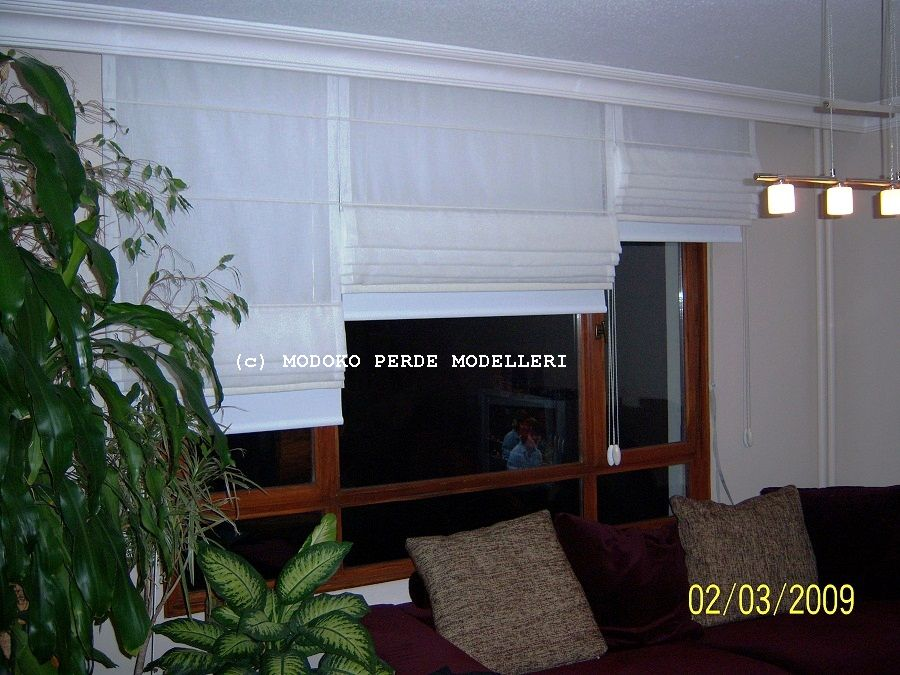 Roman Blinds ( with Cotton Tulle )- 100_1298.JPG
